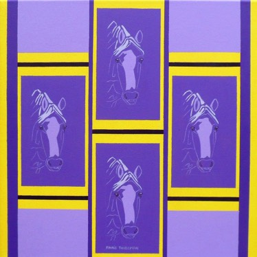 Composition in Yellow and Purple