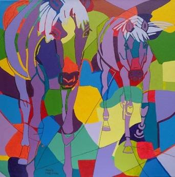 Bright color horses